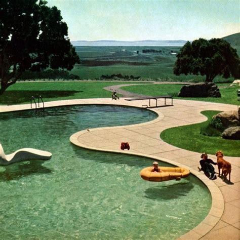 modern backyard landscape design freeform pool by thomas church modern design by moderndesign org