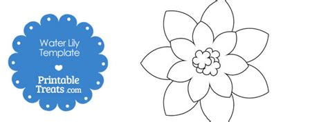printable water lily template printable treats com