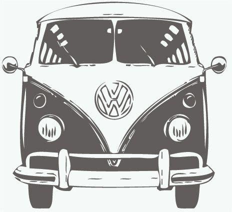 volkswagen hippie van front muursticker volkswagen t1 front volkswagen love
