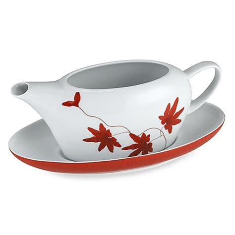 gravy boat red mikasa 174 gravy boat in pure red bed bath beyond