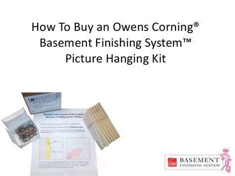 owens corning basement finishing system picture hanging kit