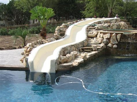 backyard pool water slides gallery for gt backyard water slide pool