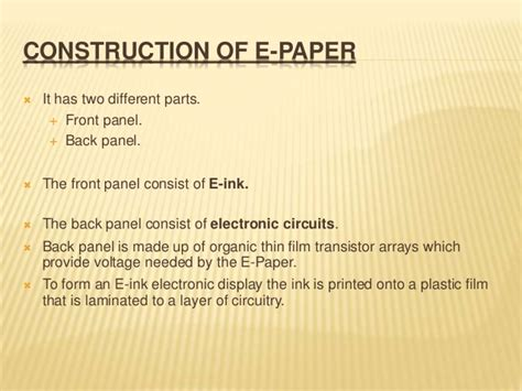 Paper Technology - e paper technology report