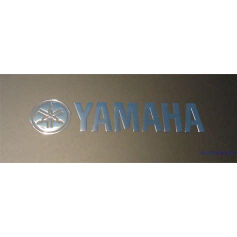 Yamaha Aufkleber Logo by Yamaha Label Sticker Badge Logo Metal Chrome