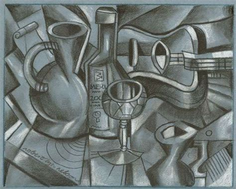 how to draw cubism cubist drawing lesson stuff