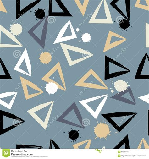 geometric pattern brush cute vector geometric seamless pattern brush strokes and