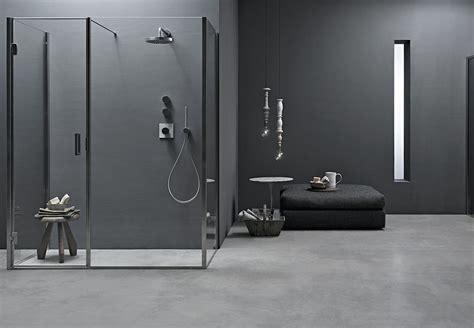 doccia parete parete doccia angolare di cristallo con 2 lati fissi bithia