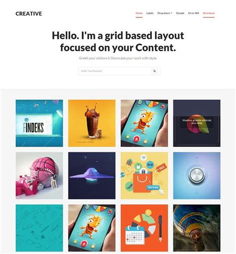 blog grid creative grid based blogger template 187 abtemplates com