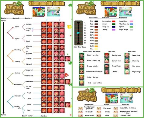 acnl hair guide for plaits guide to shoodle animal crossing pinterest nice