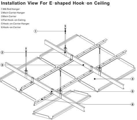 Ceiling Tile Dimensions by Custom Perforated Metal Ceiling Tiles Panels E Shaped For Drop Ceiling Hook On
