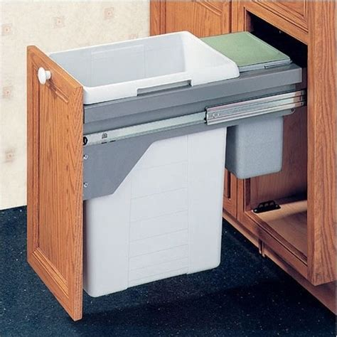drawer slide out waste bin 48 5 liter modern