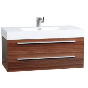 wall mount contemporary bathroom vanity teak tn t1000 tk