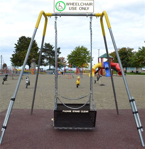 handicap swings city of parksville wheelchair accessible swing