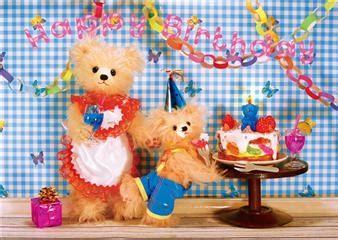 miss girlie girl teddy bear birthday party 3d lenticular