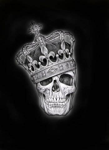 skull with crown tattoo designs top drawing of skull with crown images for
