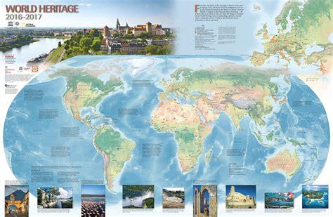 where center world heritage centre world heritage map