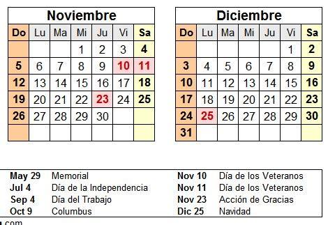 Calendario 2017 Estados Unidos Calendario 2017 Estados Unidos Anual Y En Espa 241 Ol