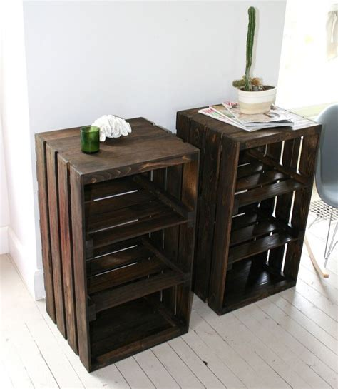Furniture Crate by Wood Crate Handmade Table Furniture Nightstand Crates