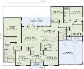House Plans 4 Bedrooms One Floor Plan 59068nd Neo Traditional 4 Bedroom House Plan 4