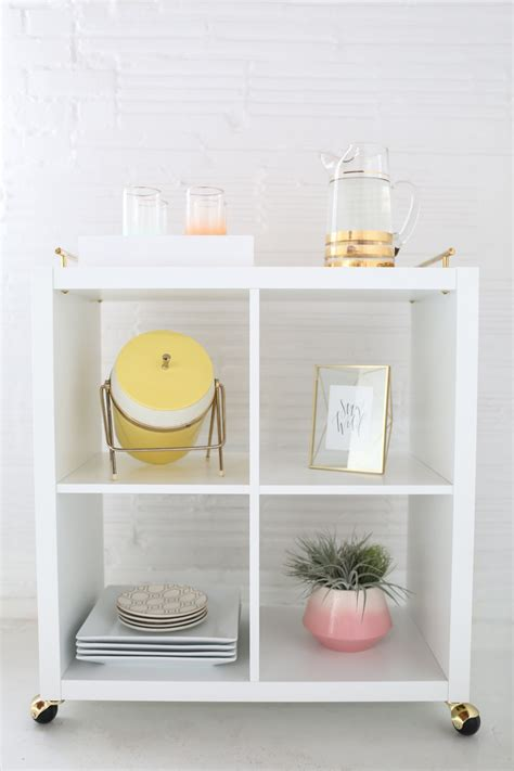 diy hack diy ikea hack bar cart