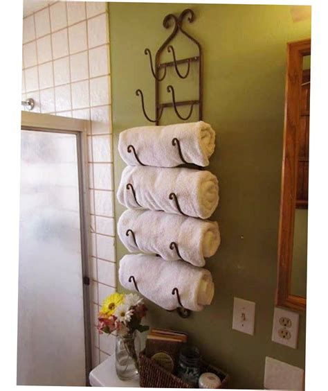 Bathroom Shelving For Towels Creative Idea For Small Bathroom Towel Rack Ideas New And About Display Pinterest