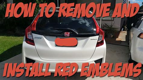 how to install honda emblem how to remove and install honda emblems to a honda