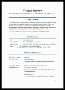 Examples Of Resumes For College Applications Example Of High School Student Resume For College