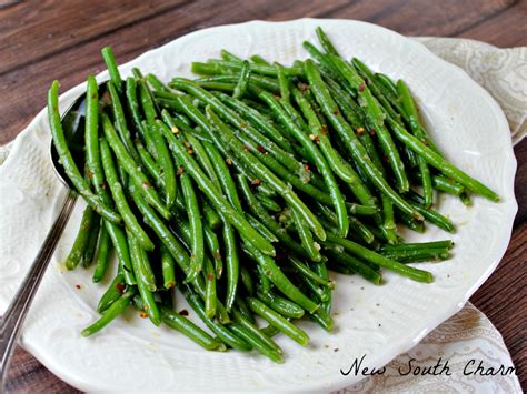 carbohydrates green beans easy skillet green beans new south charm