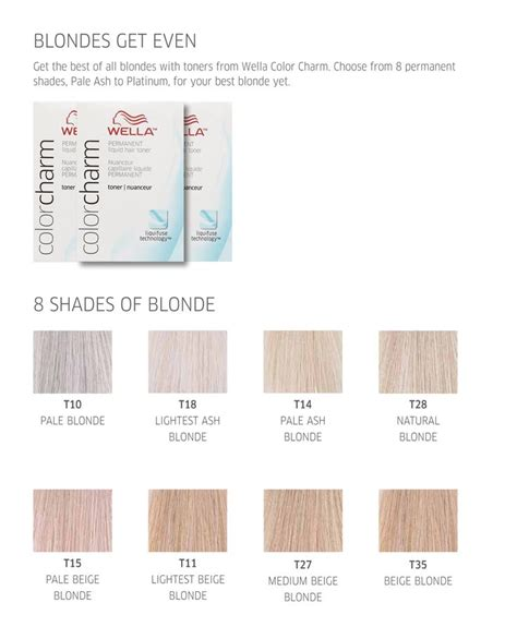 colour chart of the hair colour brand wella koleston wella color charm blondes get even color charts