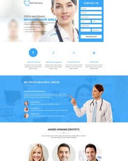 Medical Dental Olanding Dental Landing Page Template