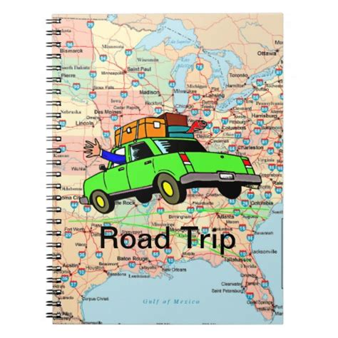 road maps route planner usa usa highway map road trip planner notebook zazzle