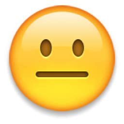 neutral face emoji (u+1f610)