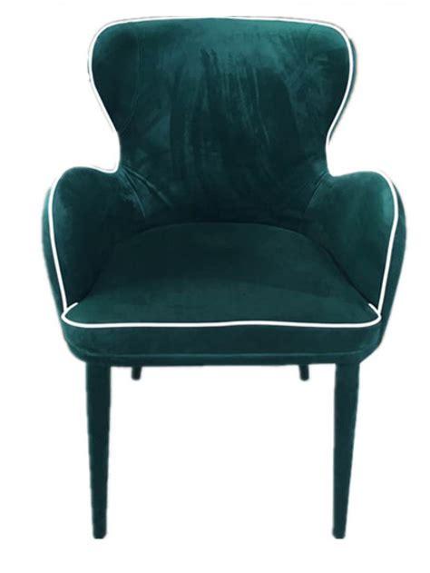 Modern Green Dining Chairs Modrest Tigard Modern Green Fabric Dining Chair
