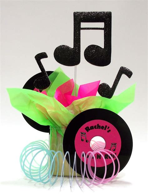 Decoration Rock by Rock Roll Theme Centerpiece Ideas Awesome Events