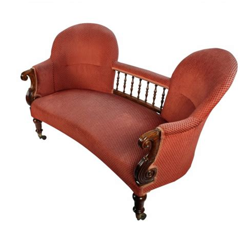 double settee antique rosewood settee victorian double chair back settee