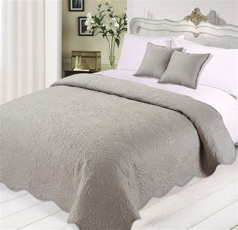 Black Quilted Bedspread 3pc Luxurious Quilted Bedspread Comforter Cushions Set