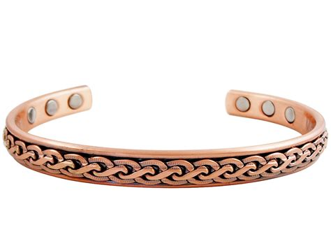 twisted vines copper magnetic therapy bracelet