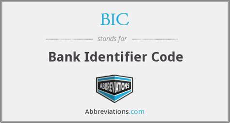 bic bank bic bank identifier code