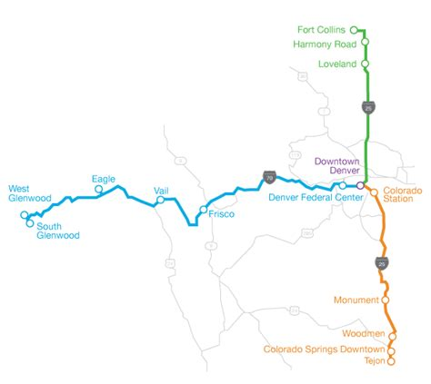 colorado springs routes map cdot to launch service from denver to colorado springs