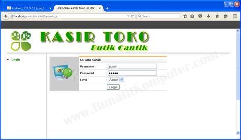 membuat form login dengan php dreamweaver contoh aplikasi sistem informasi penjualan kasir di web