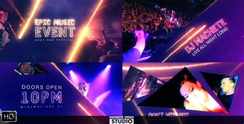 Epic Music Event Special Events After Effects Templates F5 Design Com After Effects Event Promo Templates Free