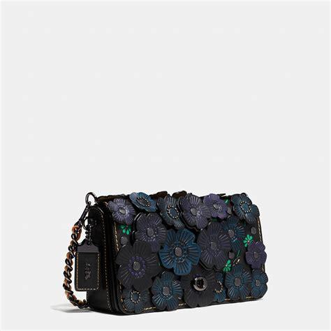 Applique Crossbody Bag lyst coach tea applique dinky crossbody in leather