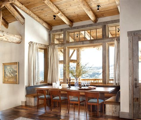 dining room nook mountain breakfast nook rustic dining room denver