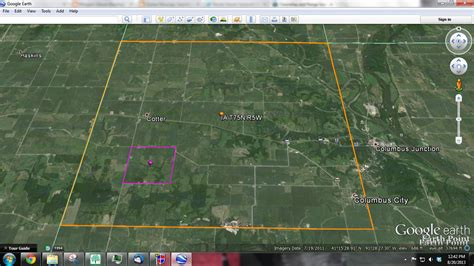 section township range google earth genea musings finding henry carringer s land in louisa