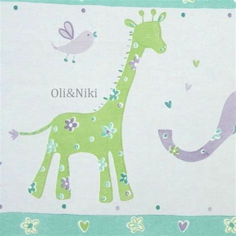 bordure kinderzimmer giraffe bord 252 re lila elefant oli niki