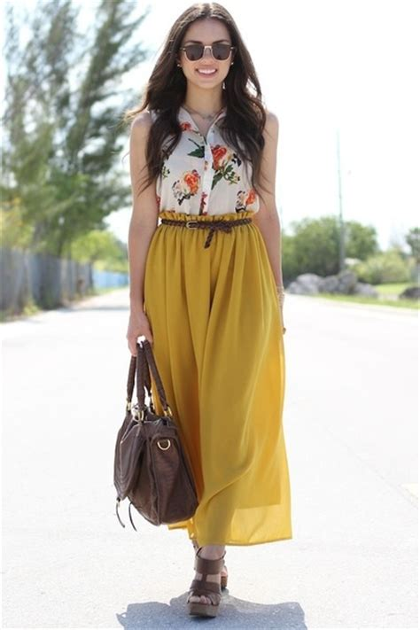 mustard maxi romwe skirts brown shoes shoes brown