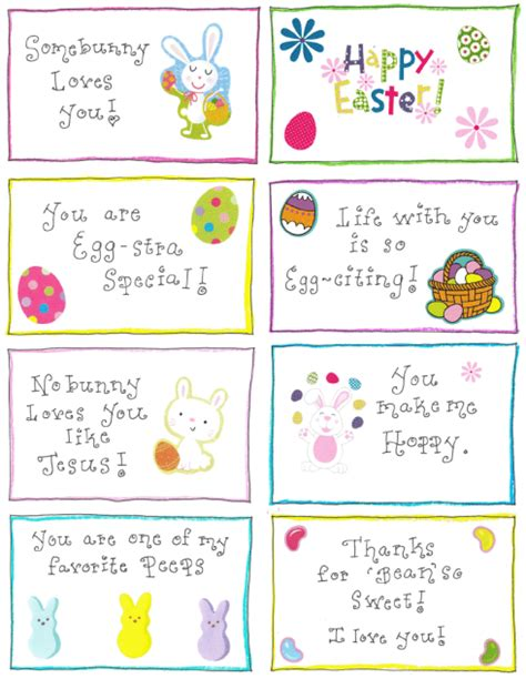printable easter lunch box jokes easter lunchbox love notes free printable happy home