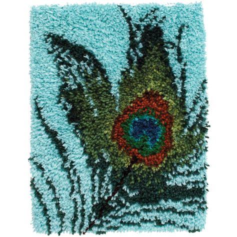 Peacock Fe Latch Hook Kit 15x20 Joann Jo Ann Hook Rug Kits For