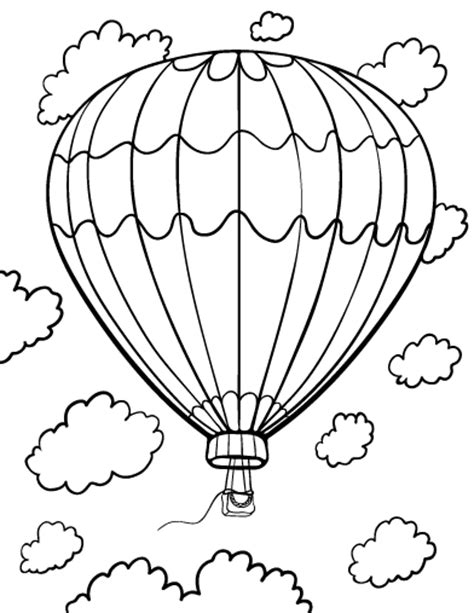 coloring book pages hot air balloon printable hot air balloon coloring page free pdf download