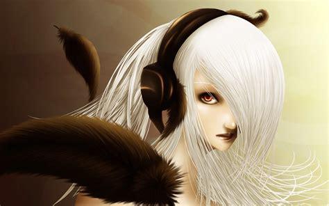 anime girl white hair wallpaper anime girl white hair hd wallpaper of anime